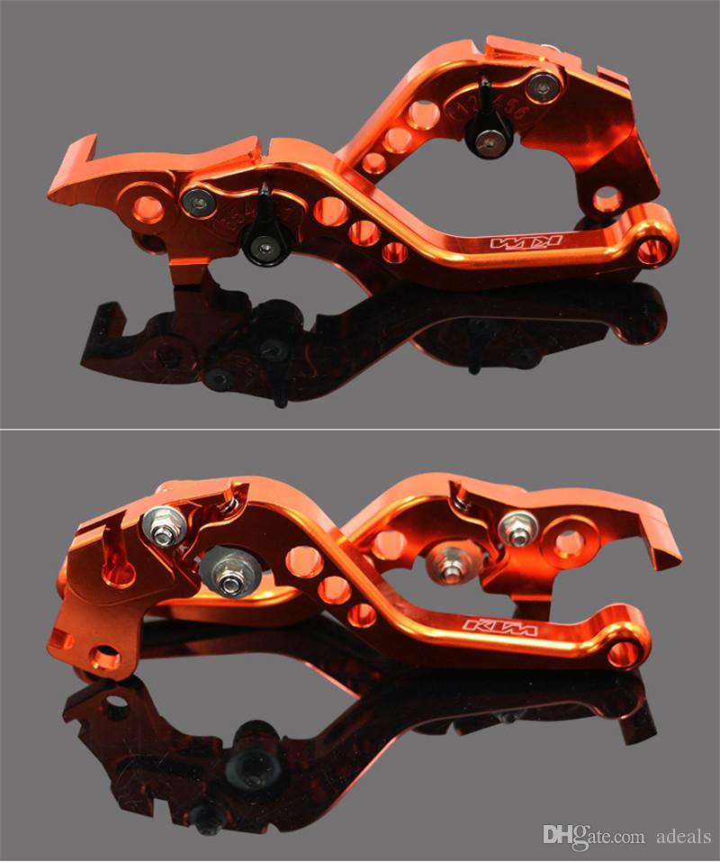 Long Aluminum CNC Brake Clutch Lever For KTM Aluminum Brake Clutch Levers Motorcycle Racing Adjustable lever