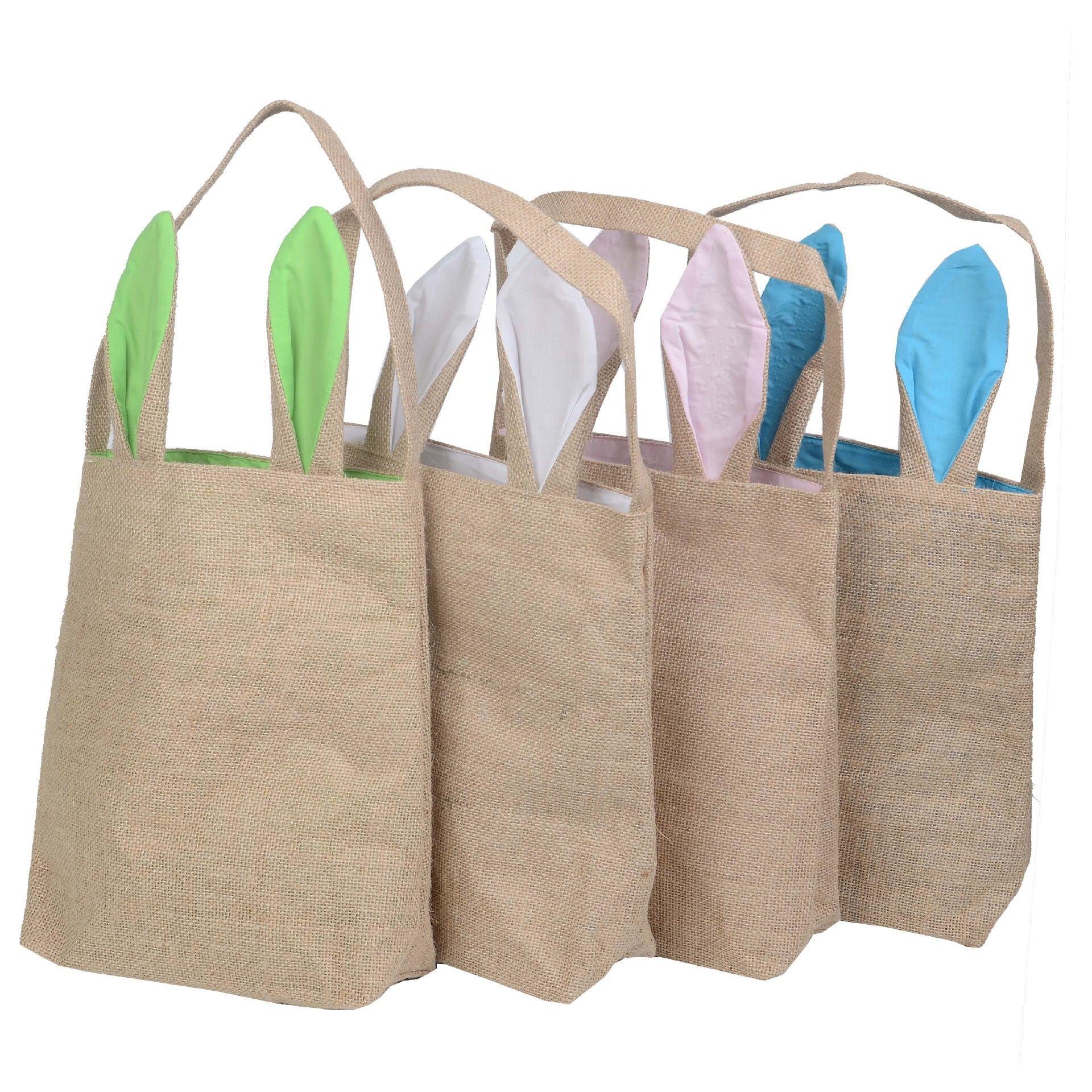 e4a9d54078e8 Wholesale Beautiful Reusable Foldable Canvas Shopping Bag Fashion Easter  Day Gift Cotton Linen Tote Bunny Bag Luxury Handbags Handbags Brands From  ...