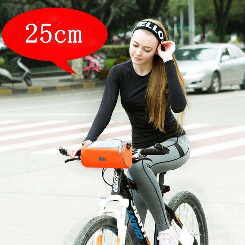 Best Selling Safebet Moda 8 Polegada 25 cm Ciclismo Bicicleta Frente Frame Bag Tubo Pannier Duplo Bolsa Para Celular Acessórios Para Bicicletas