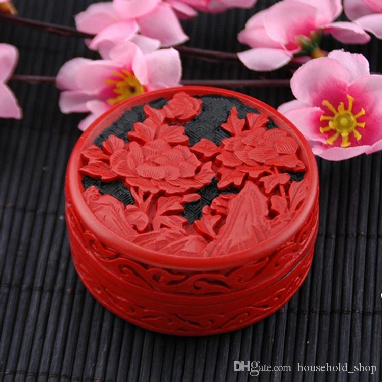 Carved Lacquer Ware Gift box Jewelry Box Paint art Carving Case Chinese traditional arts Hand made Hot in Canada 27 Designs DHL