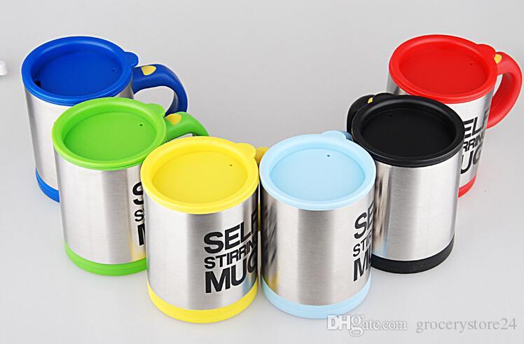 Tasse de café auto-agitée étanche au café Tasse de mélange de café en acier inoxydable automatique