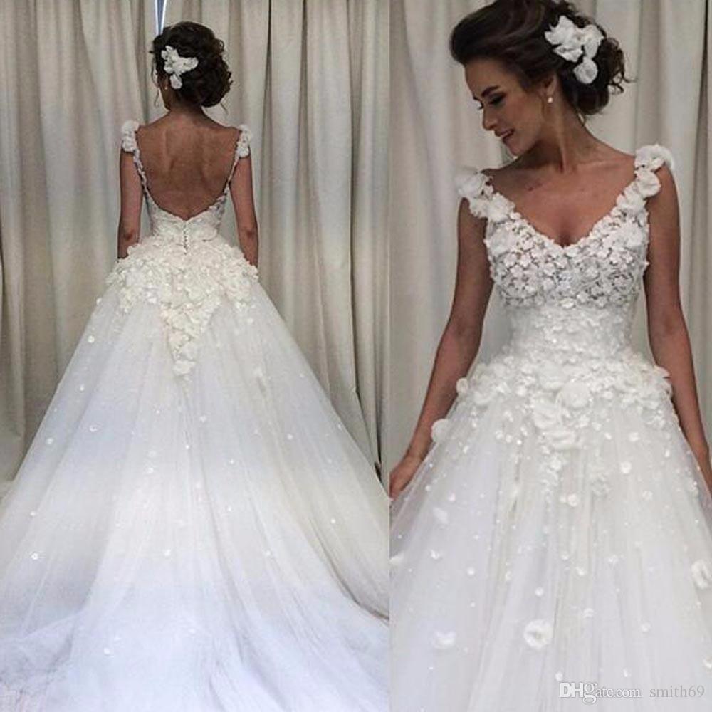 Discount Vintage 2017 Wedding Dresses Cap Sleeves A Line Lace Appliques Turkey Sexy Backless Vestido De Novia Renda Formal Party Gowns Custom Made