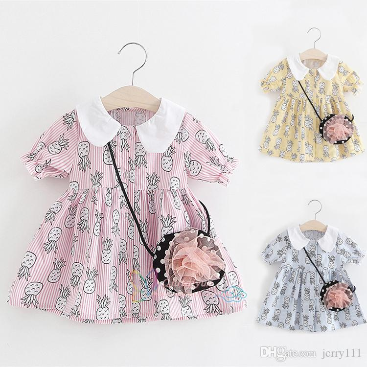 d1b123bd30de8 2019 Wholesale 1 4Y Summer Baby Girls Dresses Pink Princess Dress ...