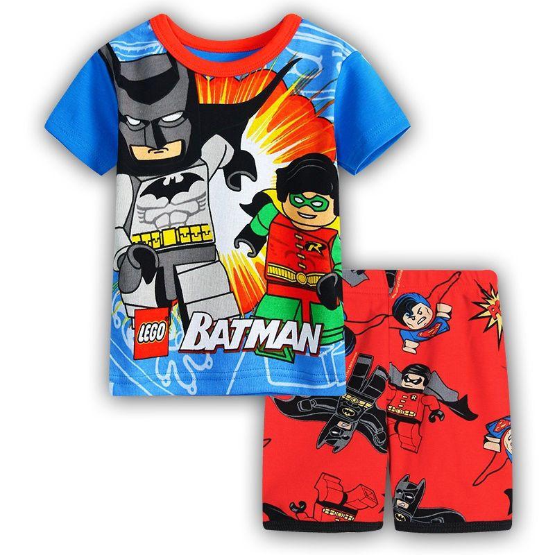 f0b0a62adef87 2017 spring pijamas summer short sleeve cotton boys sleepwear kids Cartoon  styling pyjama children baby girls pajamas