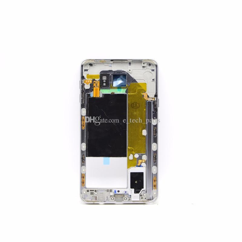 OEM لـ Samsung GALAXY Note 5 N9200 N920V N920F VS N920T N920P ظهر منتصف الإطار الخلفي الإسكان الغطاء الحافة Note5 استبدال قطع الغيار
