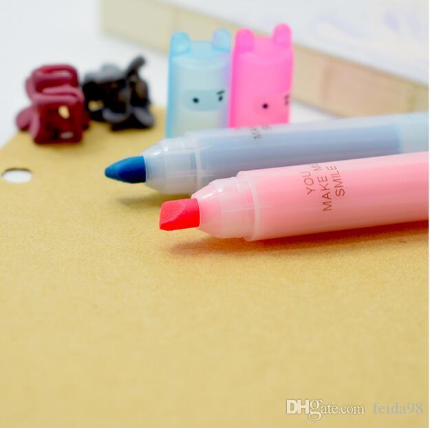 Coniglio Mini Evidenziatore Penna Pennarelli Kawaii Materiale di cancelleria Escolar Papelaria Materiale scolastico la scrittura G1169