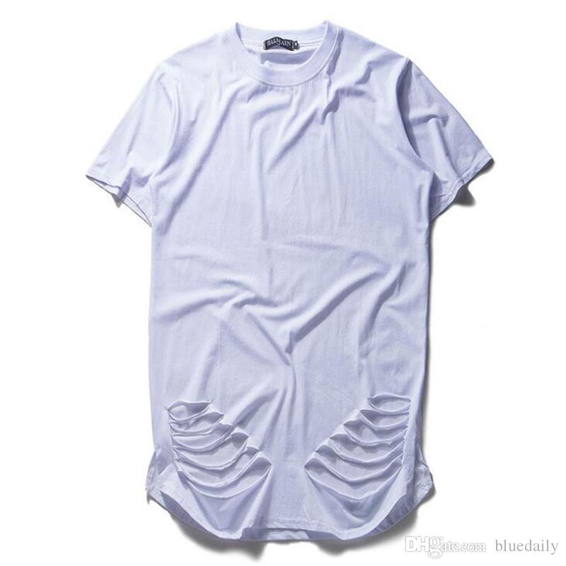 63c3cc34af8224 Fashion Extend Oversized T Shirt Kanye West Hip Hop Rap T Shirt Men ...