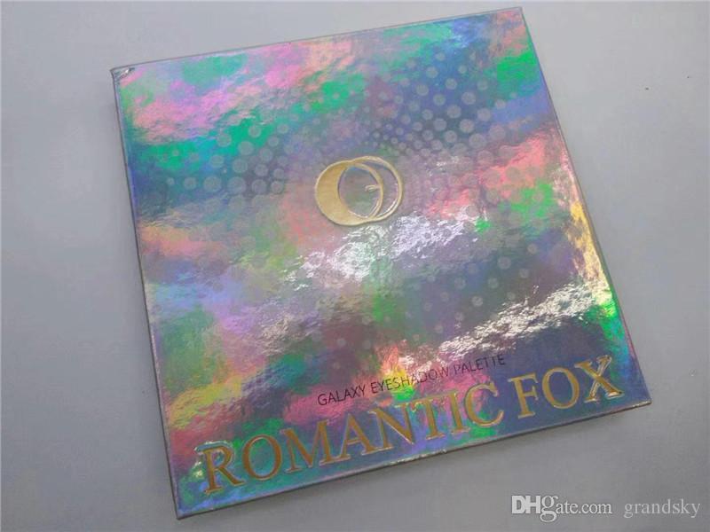 Neue Ankunft ROMANTICFOX Augenschminkepaletten-Galaxie 9 Farben-Funkeln-Augenschminkepalette Freies Verschiffenqualitätsverfassung