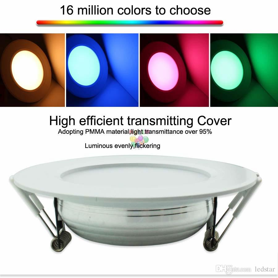 12W Milight Led Panel Dimmable Led Downlight AC85-265V RGB+CCT Indoor Room Kitchen Lighting +2.4G RF Wireless Remote Control