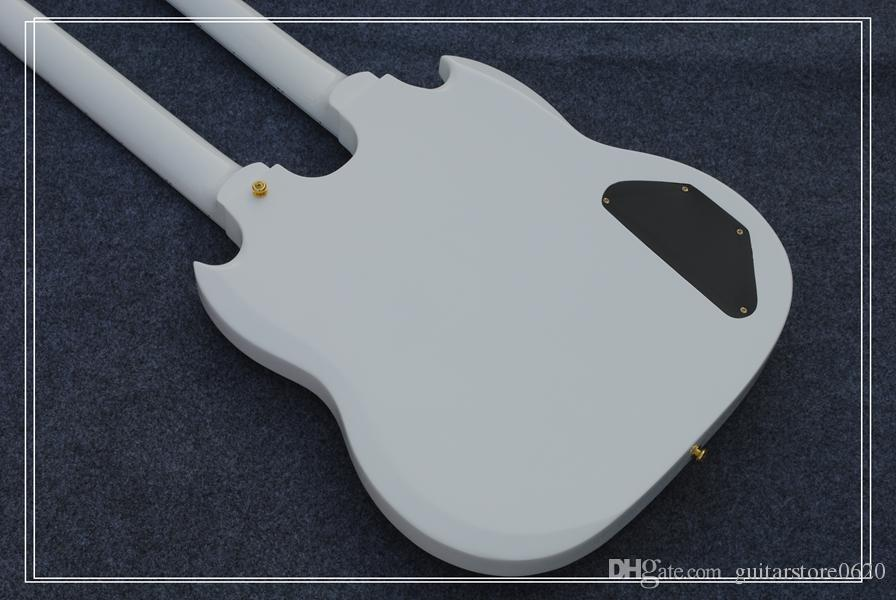 Custom 1275 Double Neck left handed guitar Double neck 6/12 strings 12 strings Electric Guitar in white