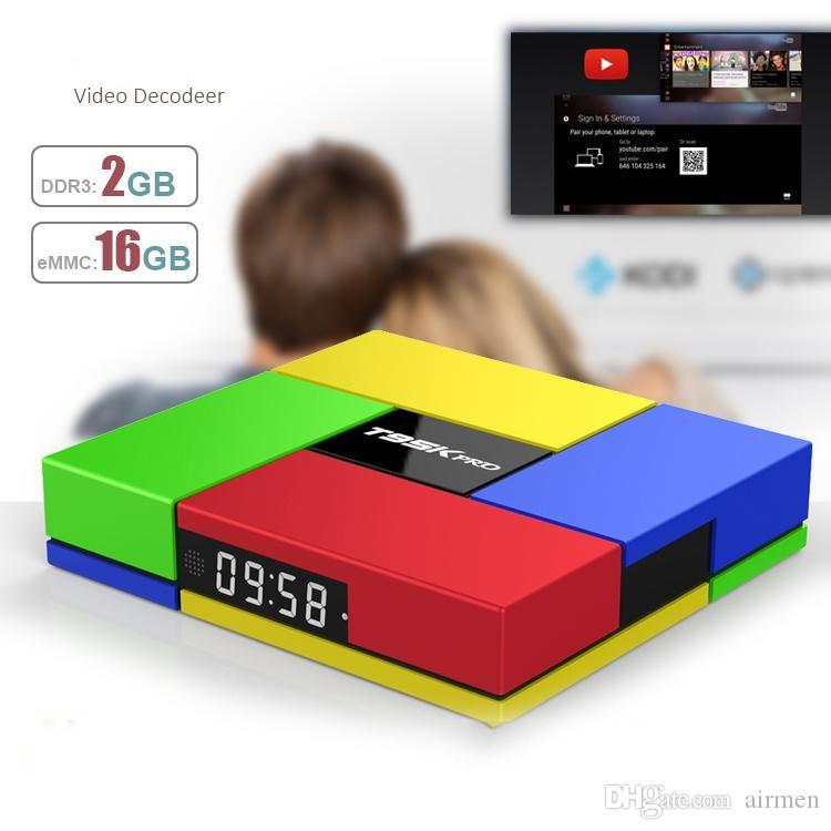 Android 7.1 TV Box 2gb 16gb T95K Pro dual band WIFI 4K H.265 17.1 loaded octa core streaming media player dhl