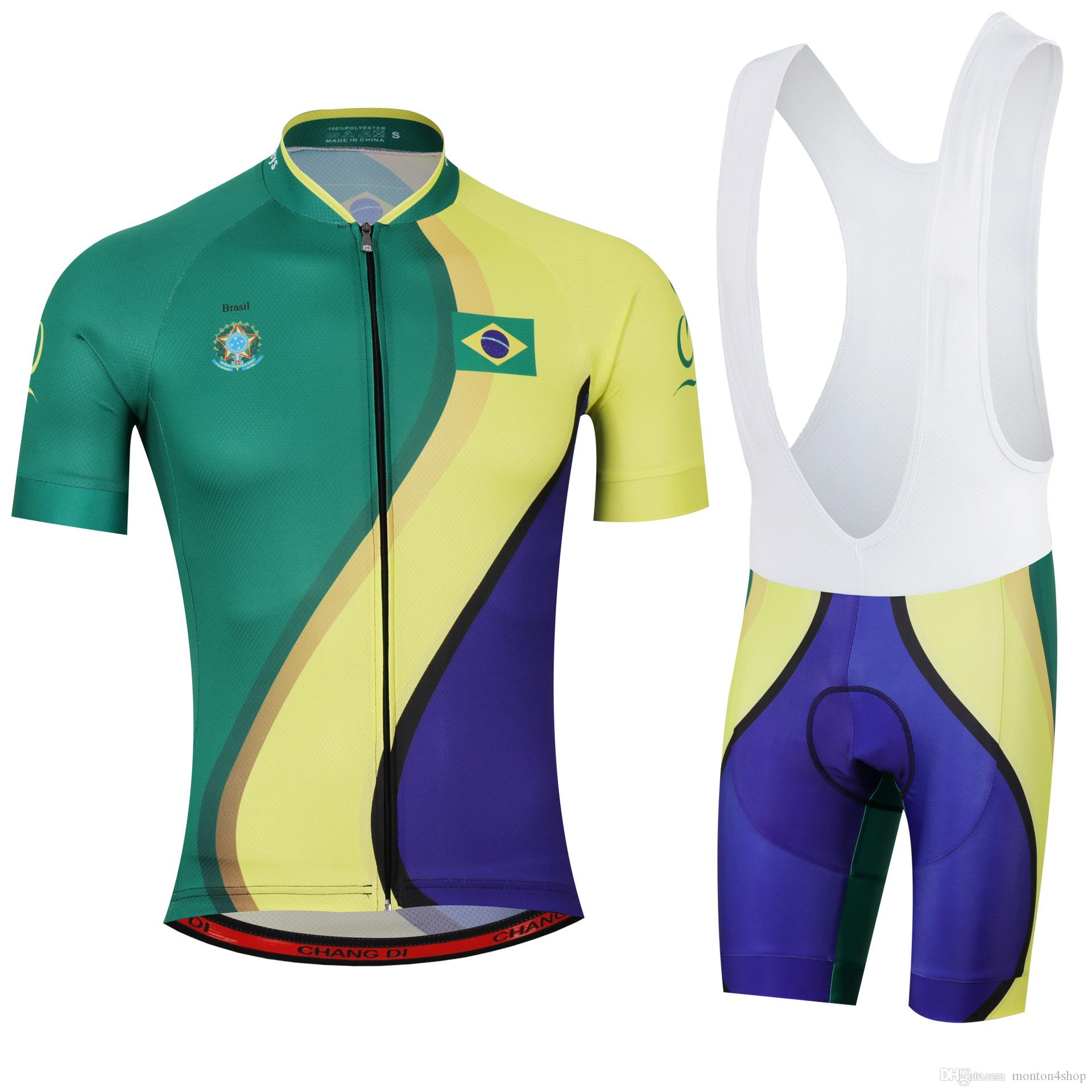 597b43ca0ae 2018Men Summmer Triathlon Brazil National Team Cycling Jersey Mountain Bike  Clothes Maillot Ciclismo Ropa Size XXS 6XL N11 Bicycle Shorts Road Cycling  Shoes ...