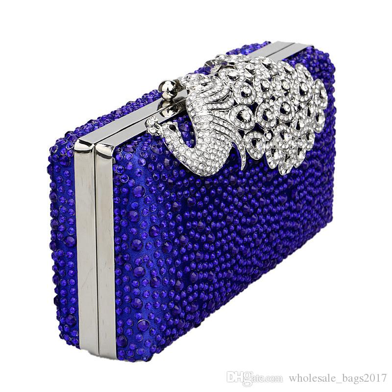 Luxe Strass Paon Soirée Sacs Cristal Femmes De Mode D'embrayage Sacs À Bandoulière Diamant Sac À Main De Mariage De Bal Parti Sacs À Main