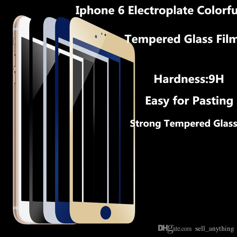 For Iphone 6 New Arrving Colorful Mirror Cell-Phone Protect Screen Flim 9H Whole Cover Tempered Glass Film Prevent Privacy For Ipnone 6S 6P