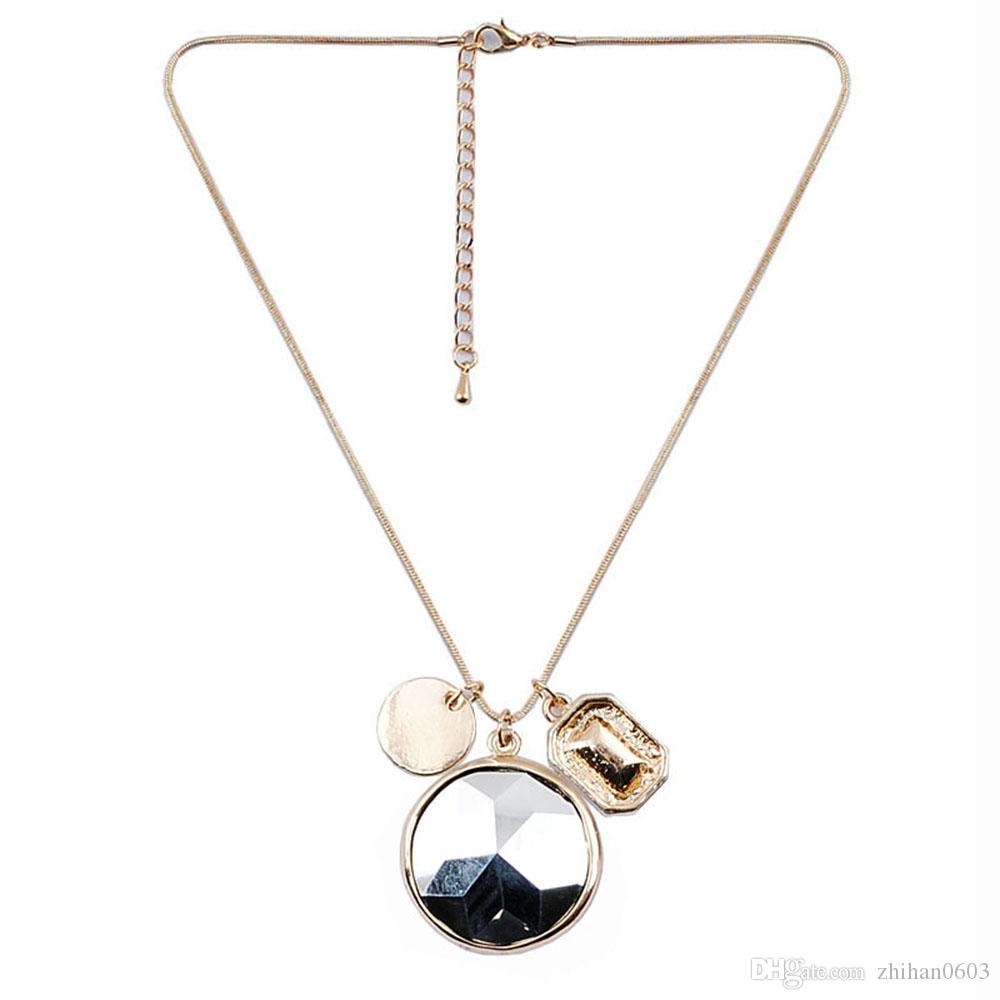 El nuevo collar de cadena de serpiente de moda collar de joyería de moda de mujer