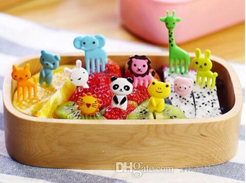 Nova Chegada / set Animal Farm Mini desenhos animados do fruto sinal forquilha fruta resina palito bento almoço para crianças decorativo sinal de plástico