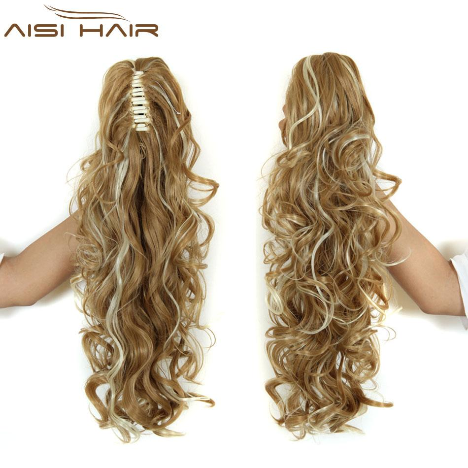 Wholesale 20 Long Claw Clip Drawstring Ponytail Fake Hair Extensions