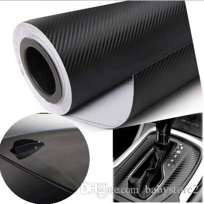 2018 automotive interior car body sticker change color film adhesive vinyl 3 d carbon fiber. Black Bedroom Furniture Sets. Home Design Ideas