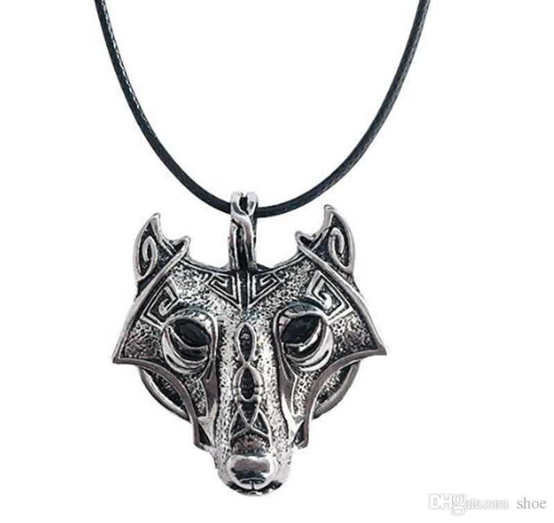 Wholesale 42+5cm Vintage Norse Vikings Wolf Necklace Faux Leather Men Retro  Animal Pendants Necklaces Women Jewelry Trinket Fashion Party Gift Silver  ... 76e52c88f0