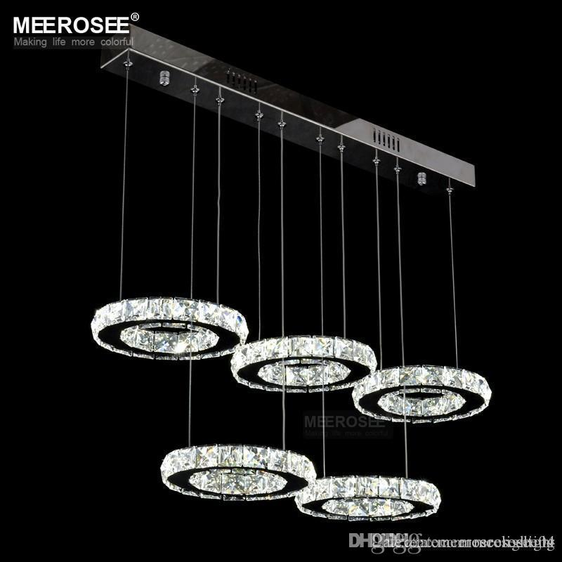 Modern chrome chandelier crystals diamond ring led lamp circle modern chrome chandelier crystals diamond ring led lamp circle stainless steel hanging light fixtures lighting led lustres md8825 chandelier lamp shades aloadofball Image collections