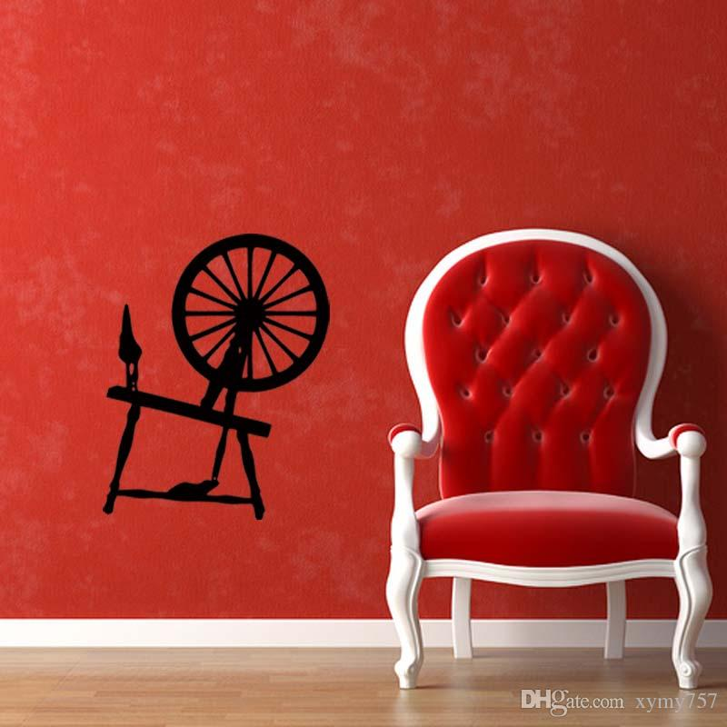 New Product For Spinning Wheel Removable Wall Personality Stickers Vinyl Decal Home Bedroom Sitting Room Diy Decor