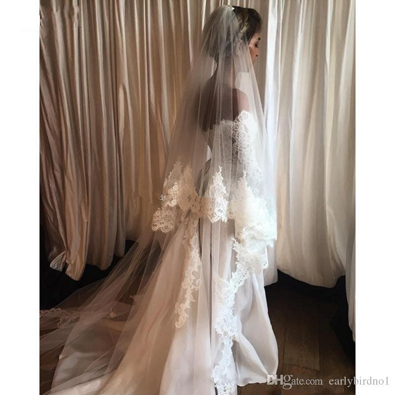 2017 neue Elegante Weg Von Der Schulter Eine linie Brautkleider Günstige Langarm Brautkleider Appliques Spitze Satin Vintage Brautkleider