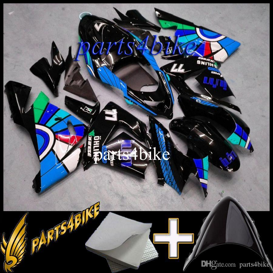 ABS Fairing for Kawasaki ZX10R 04 05 ZX-10R 2004-2005 04-05 yellow black Aftermarket Plastic Motorcycle Body Kit