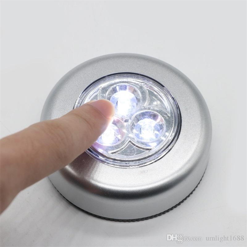 Umlight1688 3LED à piles sans fil de nuit Light Stick Tap lampe tactile Stick-Push Lumière Put It Partout