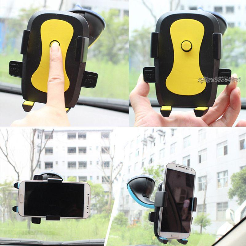heißen Verkauf 360-Grad-Auto-Telefon-Halter Windschutzscheibenhalterung Automatische 60 bis 95mm Telefon-Halter für Smartphone andriod Telefon mit Kleinpaket
