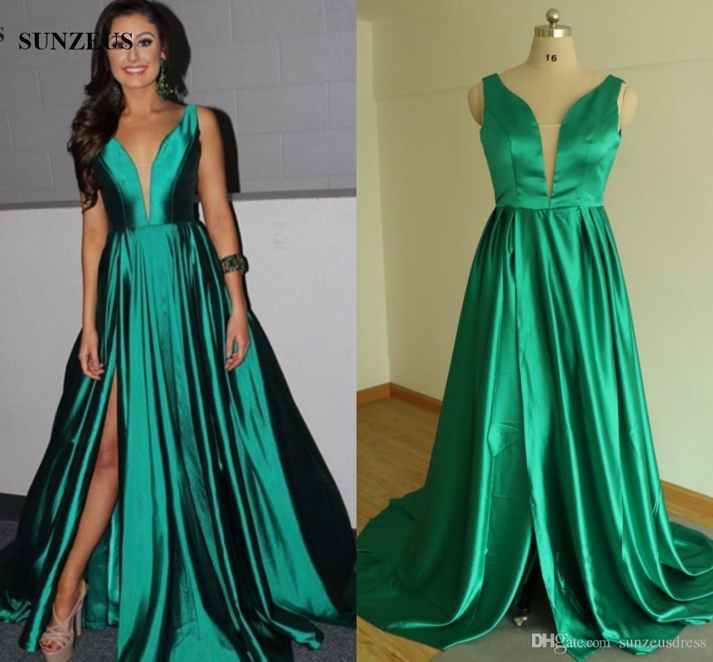 Vestido Verde Esmeralda Largo Las Mejores Modelos De