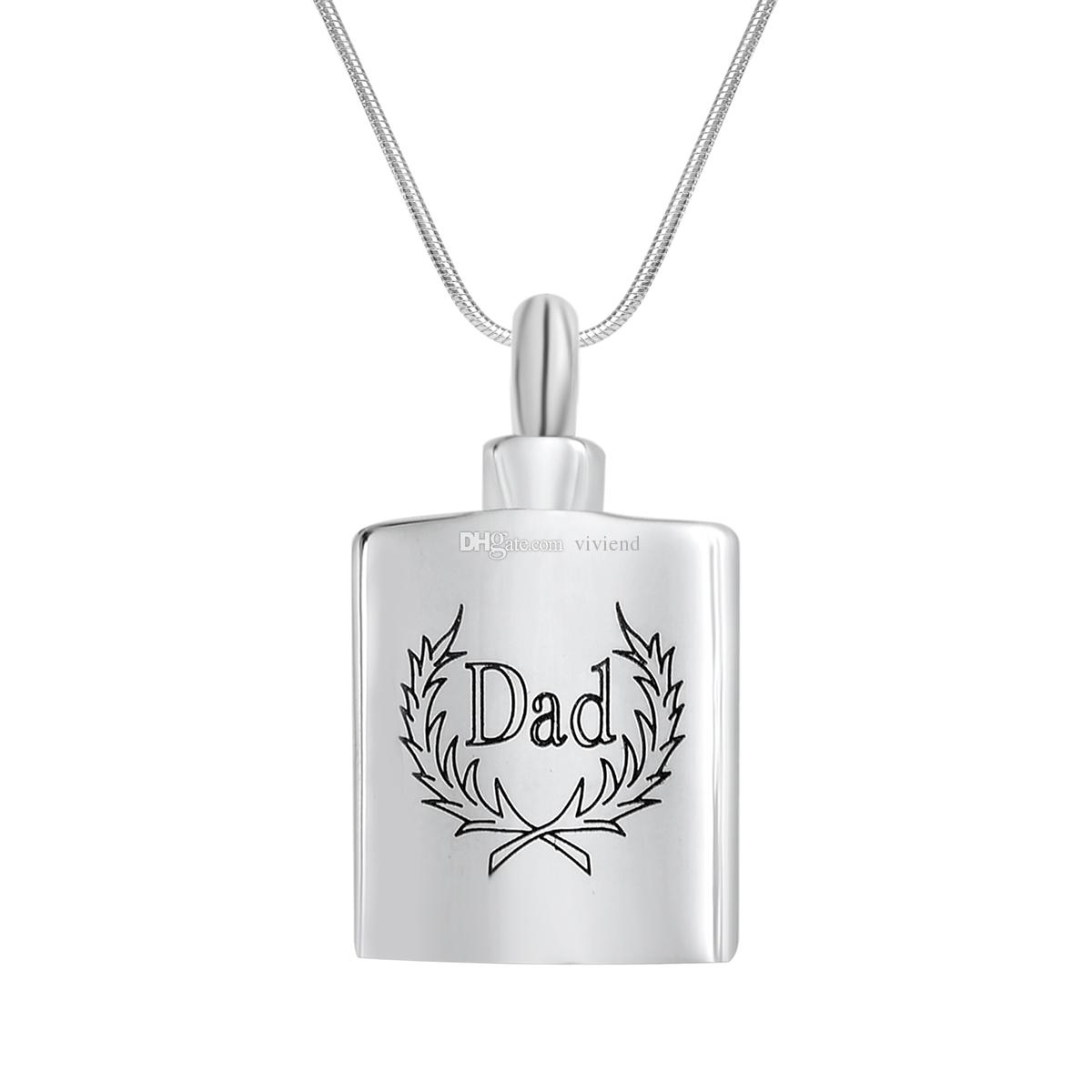 Wholesale Cremation Jewelry Dad With Olive Branch Bottle Urn Ashes Necklace Memorial Keepsake Pendant With Gift Bag And Funnel Unique Jewelry Best Friend Necklaces From Viviend 7 73 Dhgate Com
