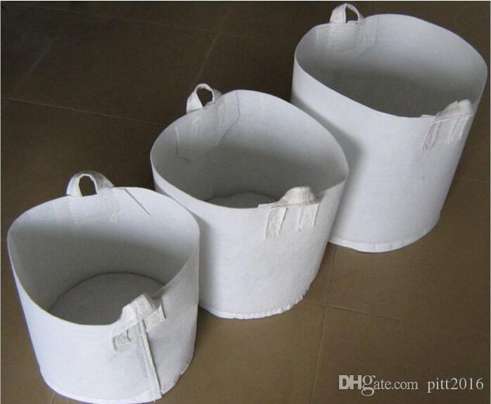 Sacs de culture de jardin en gros pour les plantes en pots de fleurs Tissu non tissé bref pratique réutilisable Cultiver des pots de plantation avec des poignées