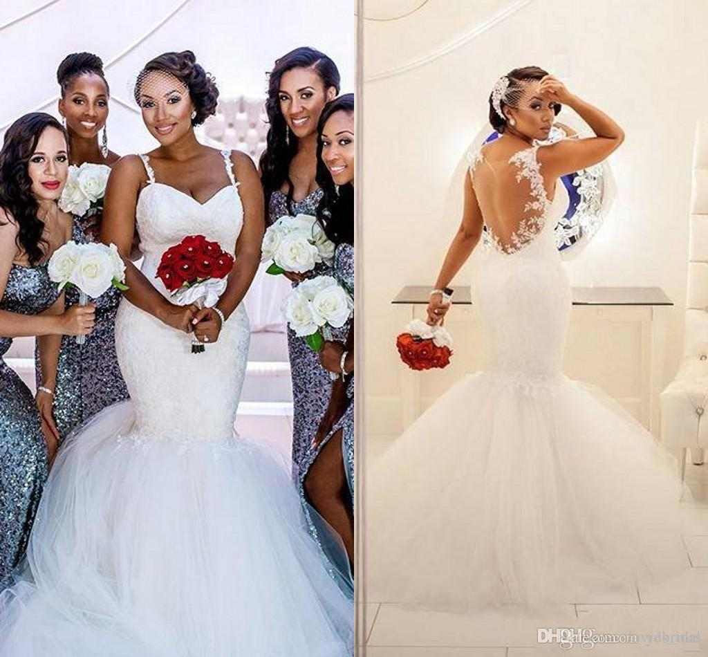2017 african romantic wedding dresses new sweetheart lace 2017 african romantic wedding dresses new sweetheart lace appliques sexy sheer back plus size black girl long sweep train cheap bridal gowns 2015 mermaid ombrellifo Image collections