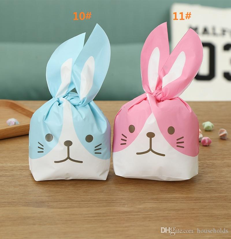 Cute Rabbit Ear Cookie Bags Self-adhesive Plastic Bags for Biscuits Snack Baking Package Food Bag Home Party Gift Bags