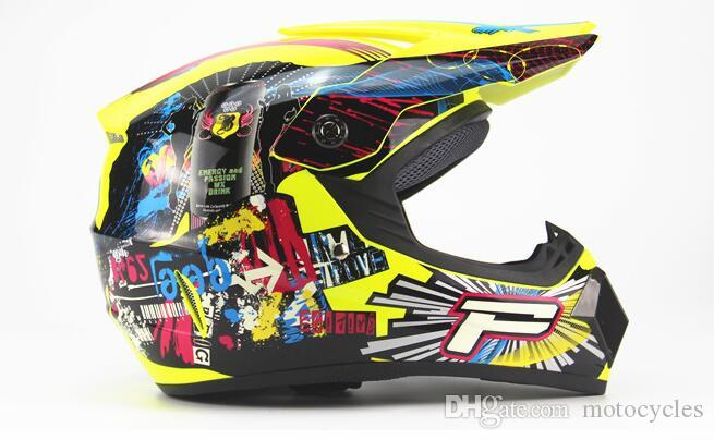 Motorrad Teile von Helmen DOT Motorrad Erwachsene Motocross Off Road Helme Downhill MTB DH Racing Helm Kreuzhelme
