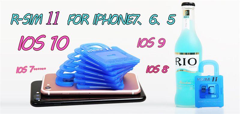 Unlock Card R-SIM 11 for iphone 7/6/6plus/5 iOS7. X-10.X 4G WCDMA GSM CDMA
