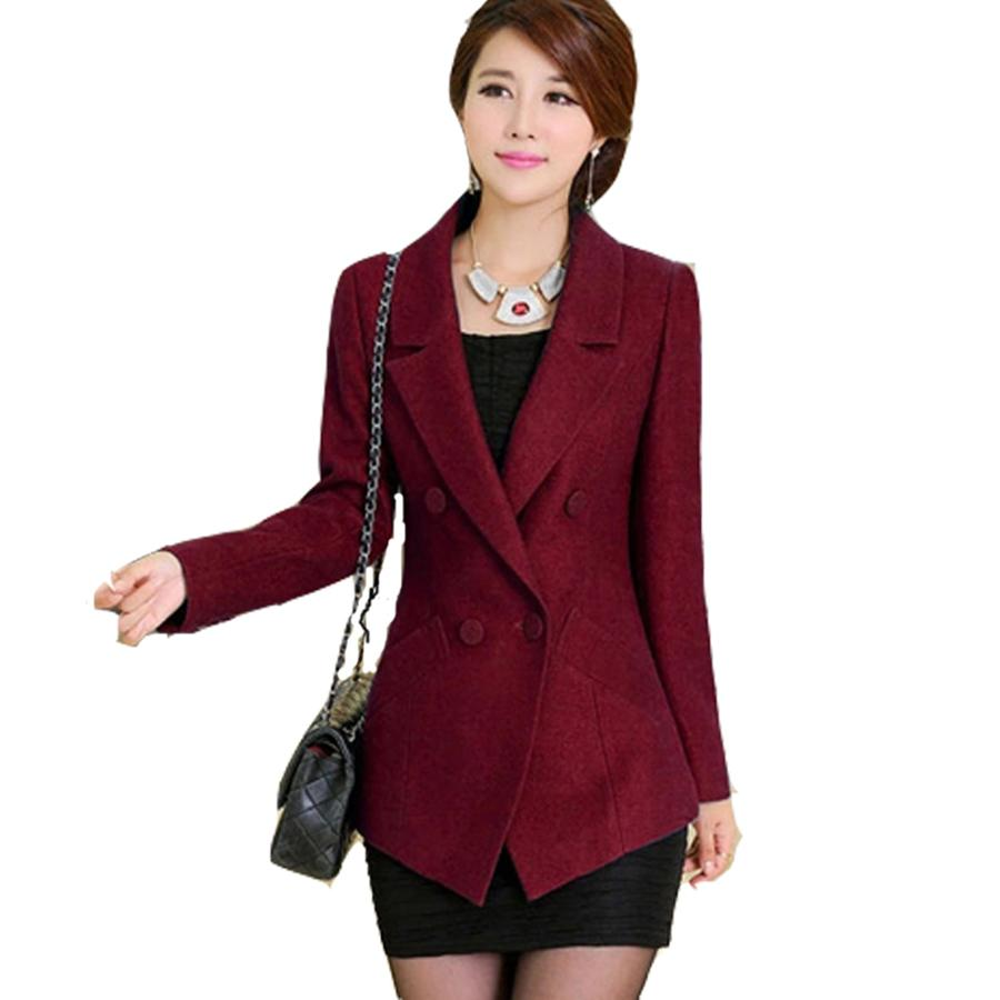 2018 Jacket Coat Blazer Women Suits Elegant Top Red Formal Jackets Ladies Blazer Designs Casaco ...