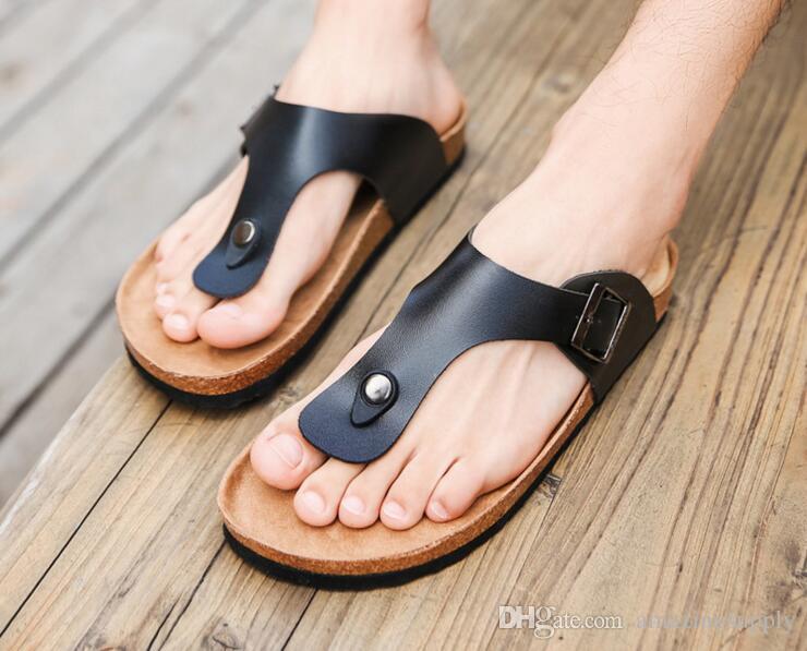 6e08d4de6eadd New Summer Cork Slides Sandals Flats 2017 New Women Casual Slip on Beach  Slipper Flip Flops Shoe Plus Size Cork Sandals Beach Slipper Cheap Sandals  Online ...