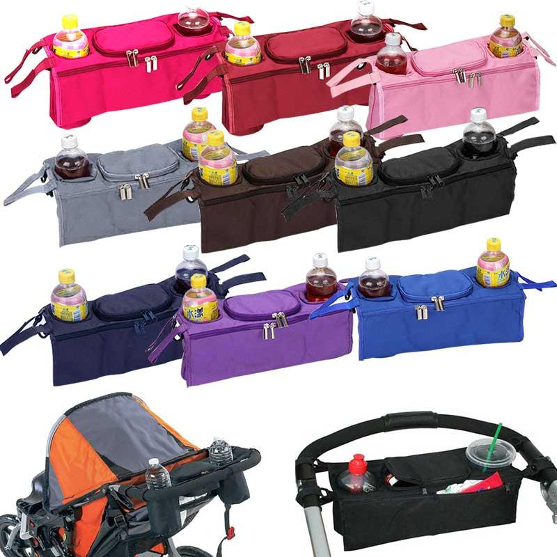 Factory Direct Sale New Baby Stroller Bag Accessories 3 in 1 Organizer Infant Carriage Cooler Wheel Hanging Bags Cart Bottle Holder