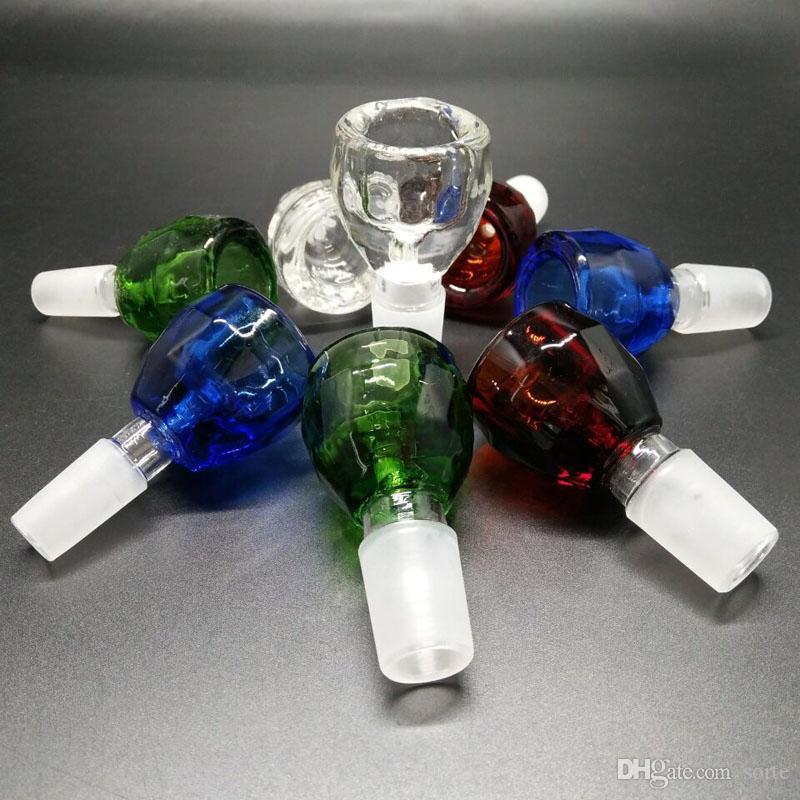 2017 neueste Die kristall schüssel für glas bong wasserpfeife Glasdia Bowl Diamond Style mit fünf bildschirmen