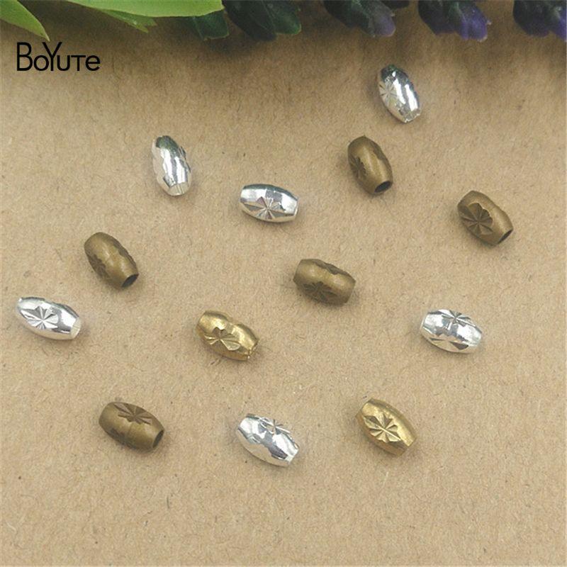 BoYuTe 100 조각 / 많은 3 색 4 * 6MM 뜨거운 판매 금속 금관 악기 타원형 최신 버전 DIY 비즈 쥬얼리 만들기