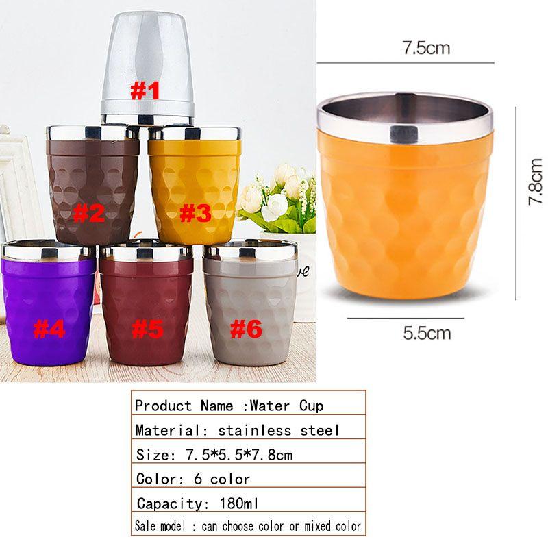 Neueste Bunte Tassen 304 Edelstahl Becher Kaffeetassen Weingläser Wasser Tasse Outdoor Personalisierte Tassen DHL Geben WX-C38