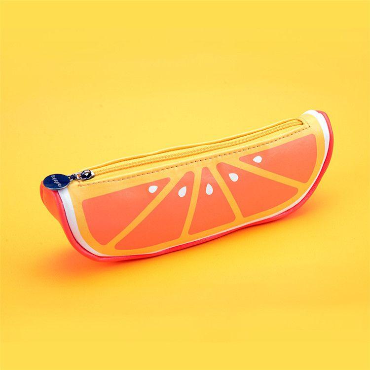 Yenilik Meyve kalem çantası Kalem Kutusu Çanta Silikon Taşınabilir Kalem Para Çantası Cüzdan Anahtar Eearphone Kılıfı Cep Anahtarlık Promosyon Hediye IB283