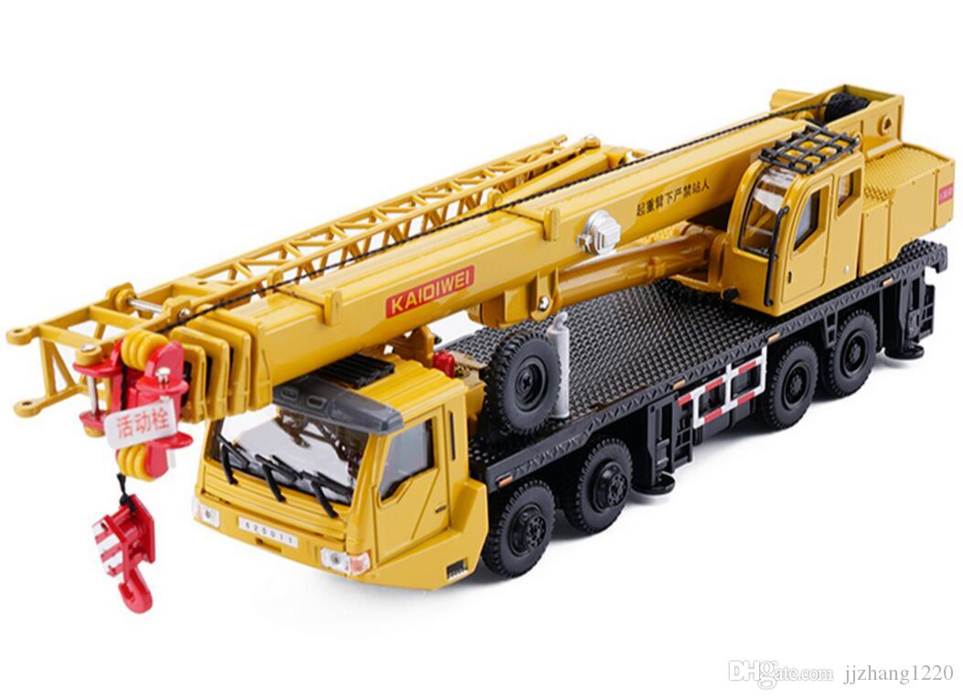 2019 1 55 Alloy Sliding Construction Crane Model Toys Heavy Concrete Pump Truck ChildrenS Educational From Jjzhang1220 3045
