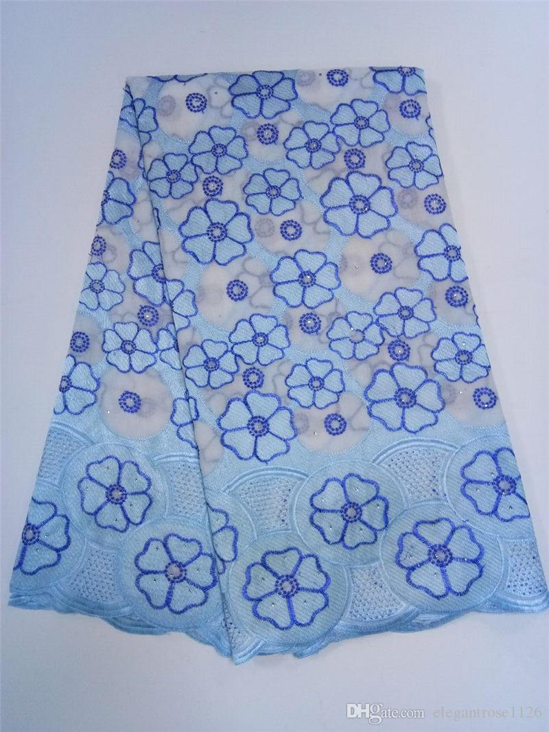 ig African Swiss Voile Lace High Quality Eyelet Cotton Swiss Lace Material Latest African Swiss Lace Fabric With Stones GYCL043