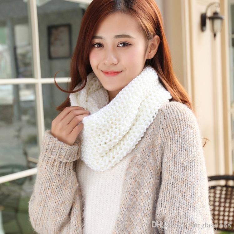 2016 nuove donne della ragazza anello sciarpa sciarpe avvolgere scialli caldo collo lavorato a maglia cerchio cowl snood l'autunno inverno spedizione gratuita