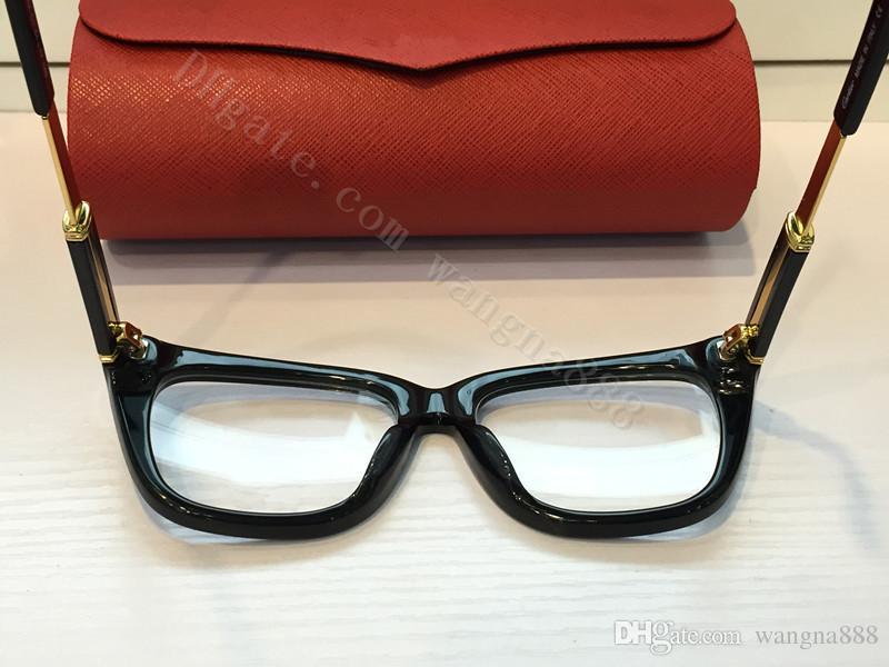 الشحن مجانا المرأة أزياء النظارات البصرية إطار مصمم النظارات النظارات إطار النظارات 0025HX تأتي مع مربع أحمر
