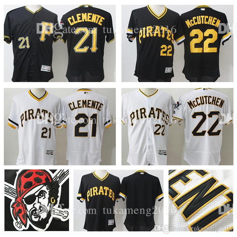 8413eafb6 ... usa stitched 22 andrew mccutchen 21 roberto clemente pittsburgh pirates  flex base baseball jerseys mlb pirates