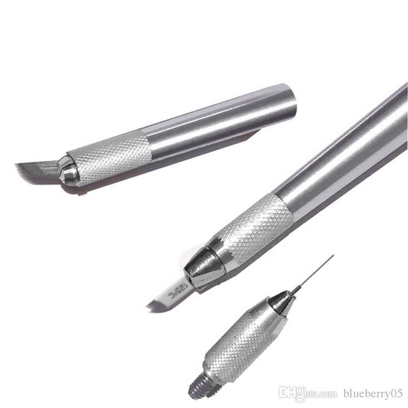 영원한 메이크업 기계를위한 마이크로 블레이드 펜 수동 눈썹 펜 무료 배송에 문신 키트 3을 확인하십시오