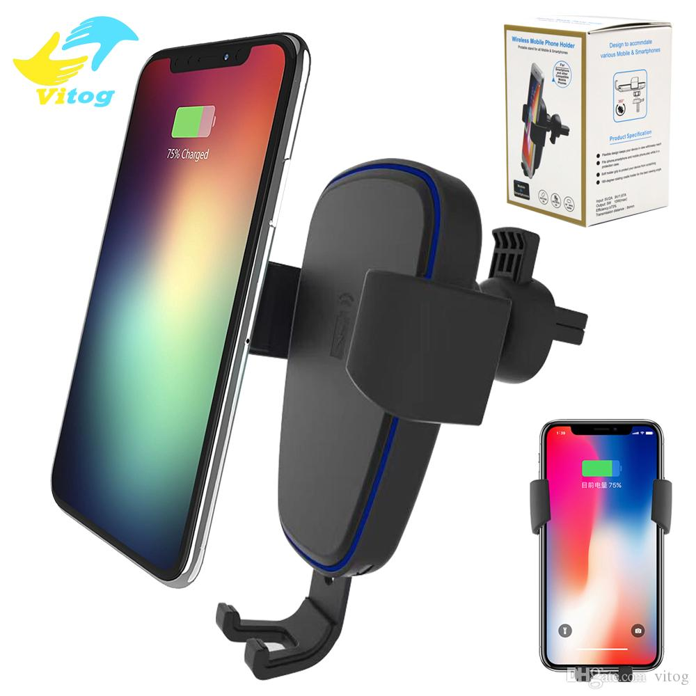 Qi Fast Wireless Charger 10W Gravity Car